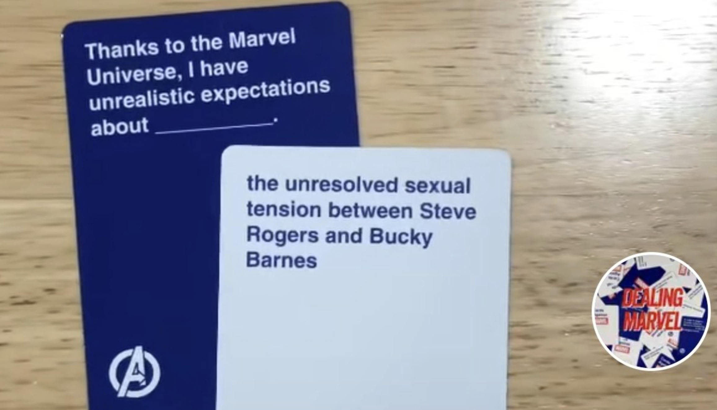 Cards AgainstMarvel Cards Example 2