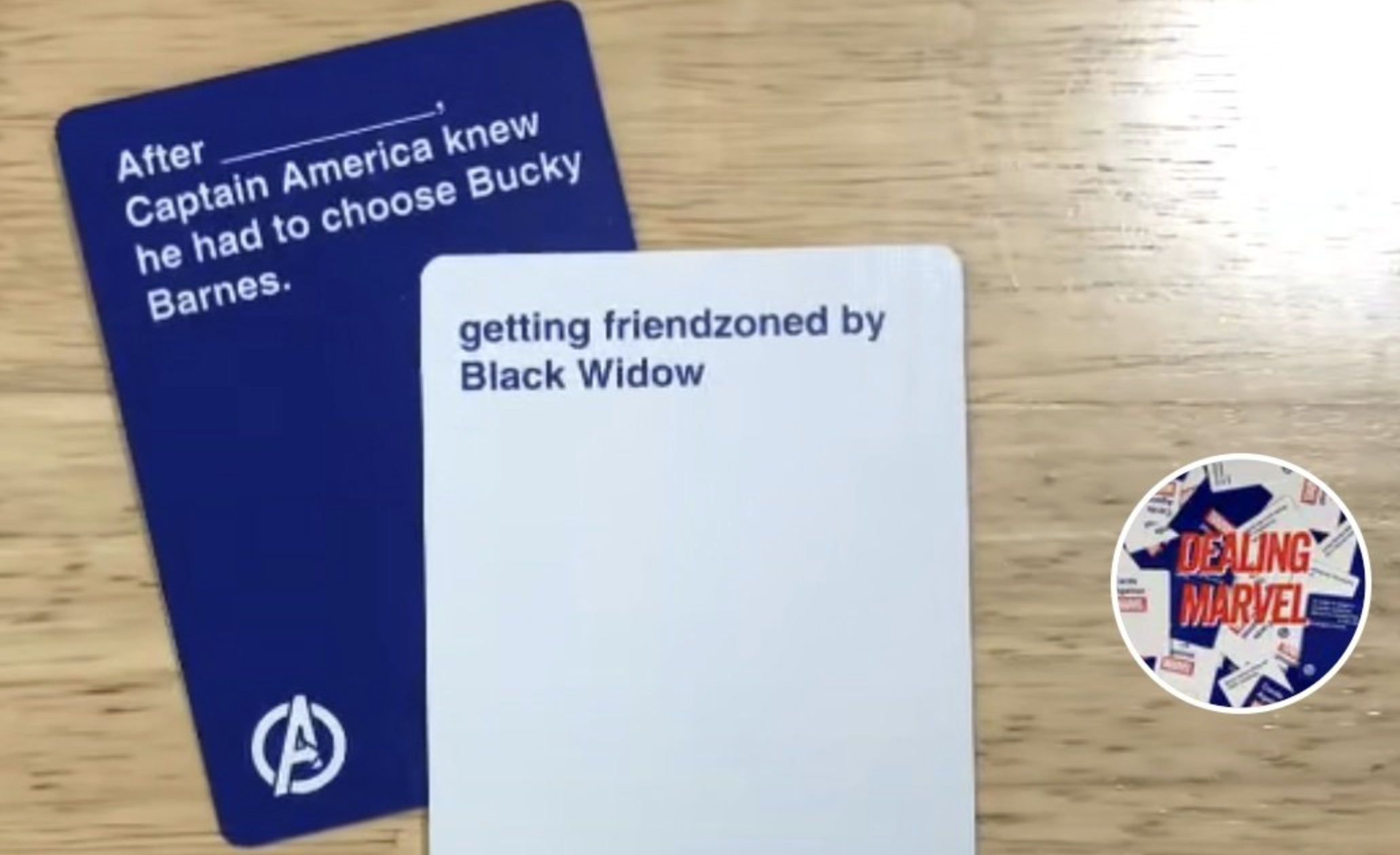 Cards AgainstMarvel Cards Example 1